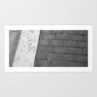 Grey Sidewalk Art Print