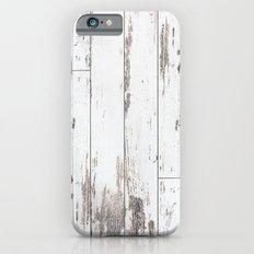 White Wood Slim Case iPhone 6s