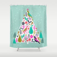 Christmas Tree By Andrea… Shower Curtain