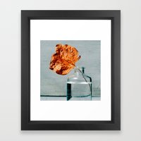 Autumn Leaf In A Bottle Framed Art Print