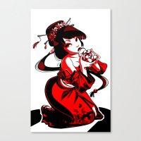 Geisha Design Canvas Print
