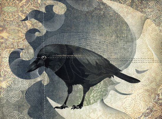 From a raven child Art Print