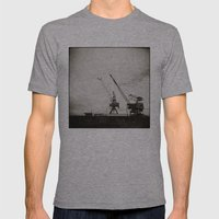 { Dancing Cranes } Mens Fitted Tee Athletic Grey SMALL