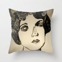 1922 Lila Lee portrait Throw Pillow
