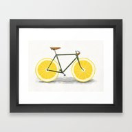 Framed Art Print featuring Zest by Speakerine / Florent…