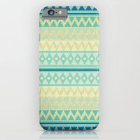 iPhone & iPod Case featuring Glitter Chevron by Nika