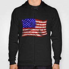 Stars and Stripes Usa Silk Flag Hoody
