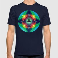 Chromasphere Mens Fitted Tee Navy SMALL