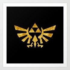 Zelda Golden Hylian Crest Art Print