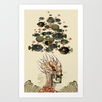 at the bottom anatomical collage by bedelgeuse Art Print