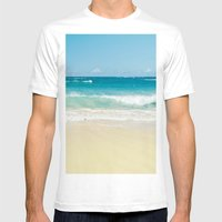 Beach Love Mens Fitted Tee White SMALL