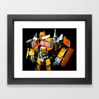 The Golden Optimus Framed Art Print