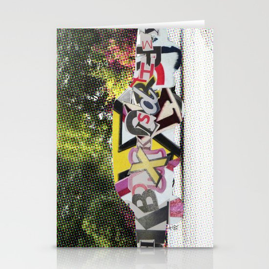 LetterCar / mobile BuchStabenSalat 3 Stationery Card