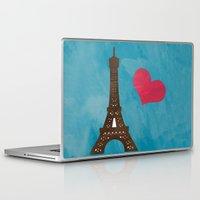 eiffel Laptop & iPad Skins featuring Eiffel by Daniela Marti