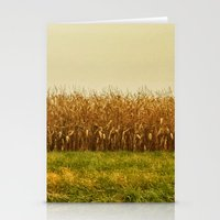 Corn Lines Stationery Cards