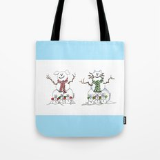 It's Snowing Cats and Dogs Tote Bag