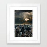Great Skies Over Manhatt… Framed Art Print