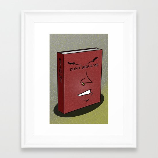 Don't Judge a Book By Its Cover Framed Art Print