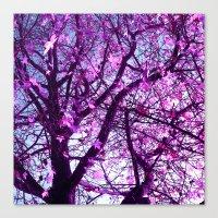purple tree XXXII Canvas Print