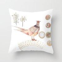 Decorative Pheasant Throw Pillow