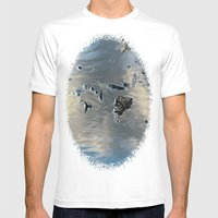 Drowning Leaves Mens Fitted Tee White SMALL