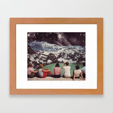 GLACIAL Framed Art Print