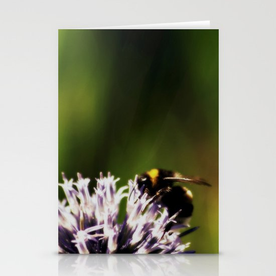In the green light Stationery Card