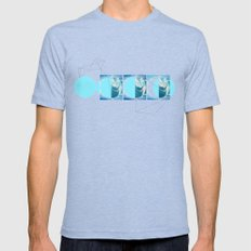 NEW MOON Mens Fitted Tee Tri-Blue SMALL