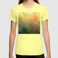 SupermanAbstract Womens Fitted Tee Lemon SMALL