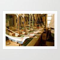 Handmade Boats Art Print