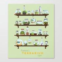 Kristina Terrarium Canvas Print
