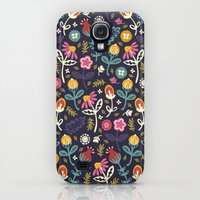 Galaxy S4 Cases featuring Ditsy Flowers by Poppy & Red