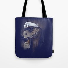 Turtlenecked Sea Captain Tote Bag