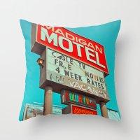 Retro signage Throw Pillow