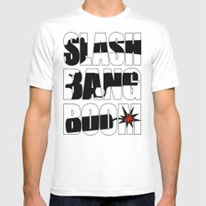 SLASH BANG BOOM! White Mens Fitted Tee SMALL