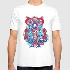 SPIRO OWL White Mens Fitted Tee SMALL