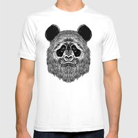 Bigfoot Panda Mens Fitted Tee White SMALL