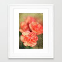 Concrete Carnation Framed Art Print