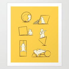Geometry are Nuts Art Print