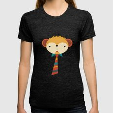 Business Monkey Womens Fitted Tee Tri-Black SMALL
