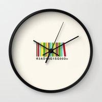 Reading is good Wall Clock