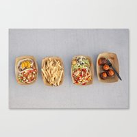 Food Organized Neatly Canvas Print