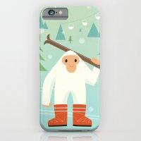 iPhone & iPod Case featuring Yeti skieur by Jean-Sébastien  Deheeger