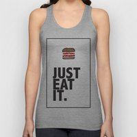 JUST EAT IT... BURGER Unisex Tank Top