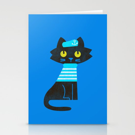 Fitz - Sailor cat Stationery Card