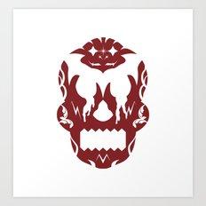 Bloodlust Skull Art Print