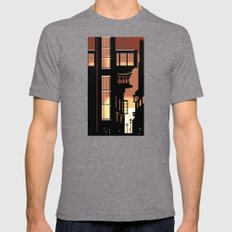 Sunrise Cityscape Mens Fitted Tee Tri-Grey SMALL