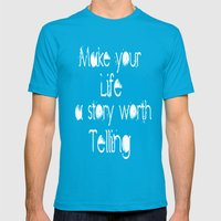 Life Story Mens Fitted Tee Teal SMALL