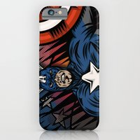 iPhone & iPod Case featuring Captaino Americano by illustrationsbynina