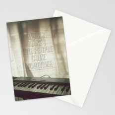 Music makes the people come together Stationery Cards